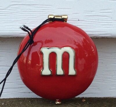 M&M Red Monet Hinged Trinket Box Compact Keepsake Melts in Your Mouth NEW