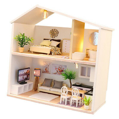 Miniature DIY Doll House with Handmade Furniture 3D Dollhouse Collectibles