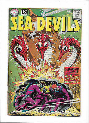 """Sea Devils  #6  [1962 Gd]  """"the Flame-Headed Watchman!"""""""