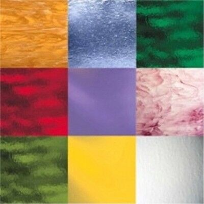 Spectrum Stained Glass Pack - (6) Sheets 12x12 Variety Mix Assortment Random