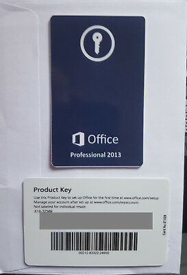 Microsoft Office 2013 | Professional plus  Product Key Card  (269-16149)  1 user
