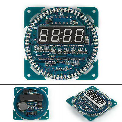 DIY DS1302 Rotation LED Electronic Clock Kit 51 SCM Learning Board Module UK