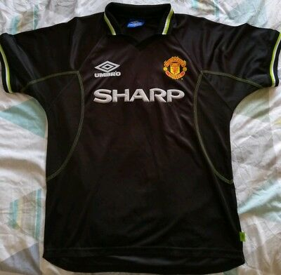Manchester united shirt 1998/1998 Third Kit Large Rare Vintage