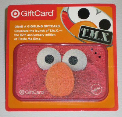 Tickle Me Elmo TMX Giggling Gift Card NONWORKING Target 2006 $1 Loaded