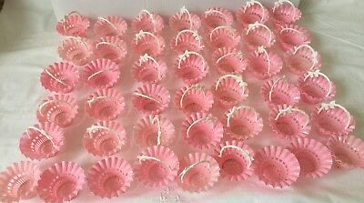 Vintage 1950's Hard Plastic Candy Nut Cup Lot 44 with 38 Handles marked Best USA