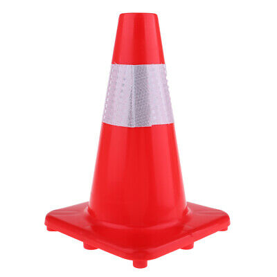 Windproof Traffic Safety Cone Reflective Marker Roller Skating Football Red
