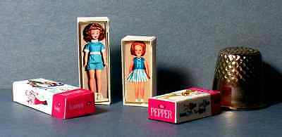 Dollhouse Miniature 1:12 Tammy and Pepper Doll Box Set 1960s dollhouse girl
