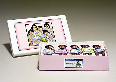 Dollhouse Miniature 1:12 - Dionne Quintuplets Doll Box - Dollhouse girl nursery