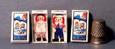 Dollhouse Miniature 1:12  Raggedy Ann and Andy Doll Box Set   girl  nursery