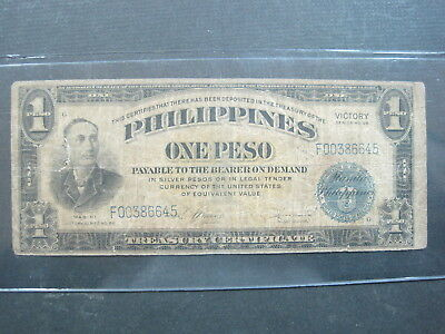 Philippines 1 Pesos 1944 Usa Victory Mabini 82# Bank Currency Banknote Money