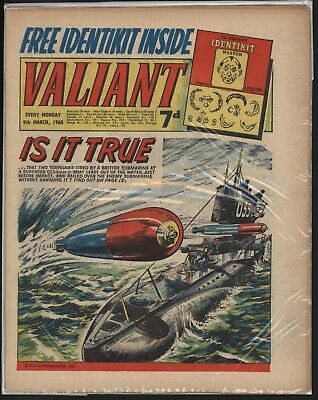 VALIANT 9th March 1968 RARE FREE GIFT INTACT! GREAT CONDITION!