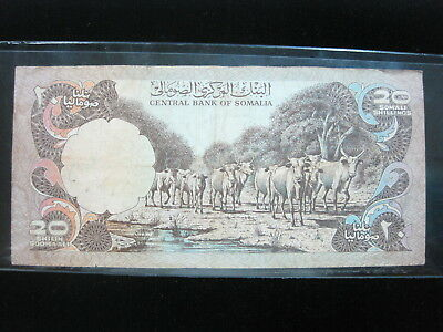 Somalia 20 Shilling 1978 P23 Soomaaliya Africa 54# Bank Currency Banknote Money