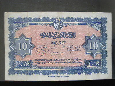Morocco 10 Francs 1944 221 P25 French Maroc 86# World Currency Banknote Money