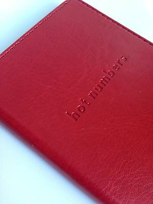 Hallmark HOT NUMBERS Pocket Address Book, Simulated Red Leather, NEW!