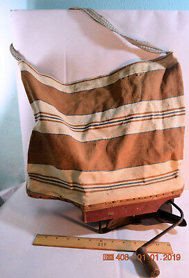Antique Early 1900's Cyclone Seed Sower Seeder Cloth Bag Paper Label