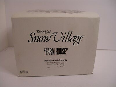"Department 56 Snow Village 1997  ""Farm House"" #54912 Original Box loc8"