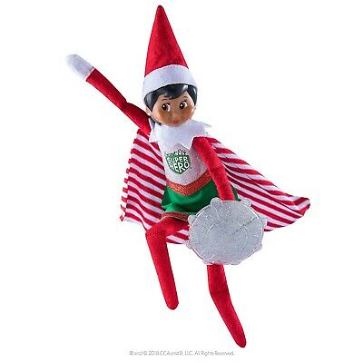 Elf On The Shelf Scout Superhero Girl Outfit Clothes Dress Shield & Cape No Doll