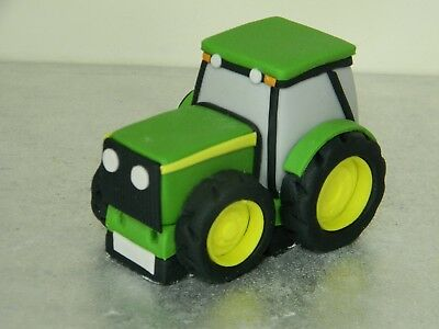 Large Tractor Edible Handmade Birthday Cake Topper With Name Number