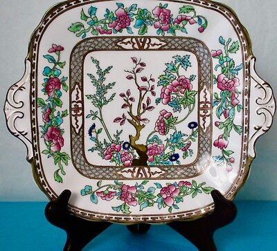 Coalport INDIAN TREE Bone China Hand Painted Serving Squire Plate