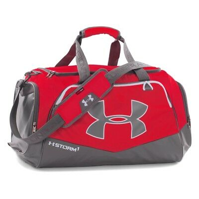 NEW Under Armour UA Undeniable Duffel Bag Small Red Graphite Gym Travel f4d0b88ba269a