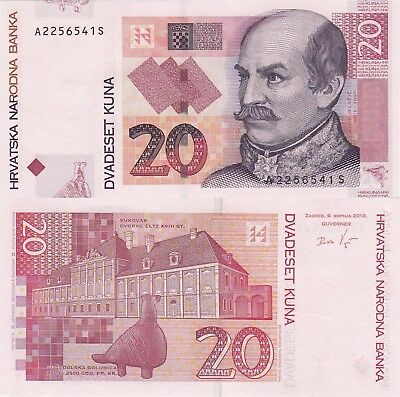Croatia 20 Kuna (2012) - General/Pottery Dove/p39b UNC