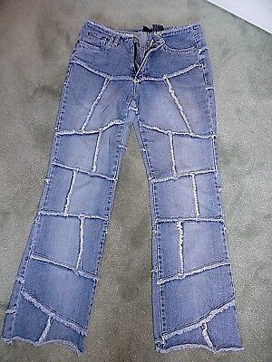 Womens juniors Vintage Flare 80s-90s Hippy Retro style jeans size 9