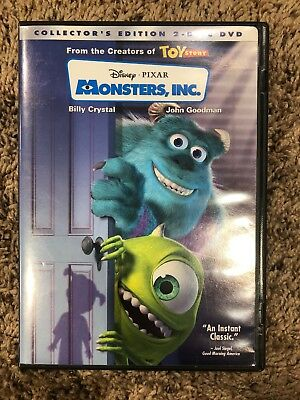 Monsters, Inc. (DVD, 2002, 2-Disc Set, Collectors Edition) Used In Good Cond.