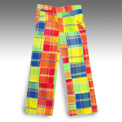 New Loudmouth Golf Pants Size 5T 5 Girls  Grass Plaid Madras Patchwork Kids
