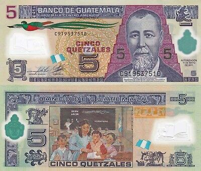 Guatemala 5 Quetzales (11.5.2011) - Polymer Note/p122b UNC