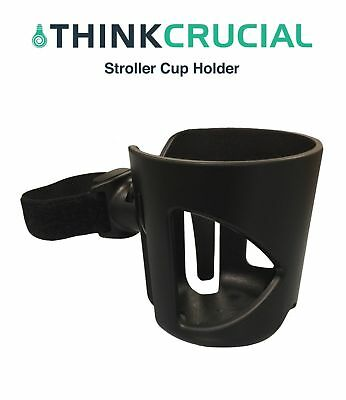 Durable Universal Baby Stroller Cup Holder ~ Black, by Think Crucial