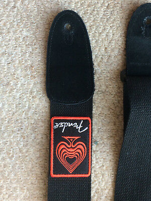 Fender Stop Dreaming Start Playing Guitar Bass Strap Black Red Ace