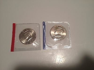2005 P D Kennedy Half Dollars US Mint Cello Satin Finish BU Coins Uncirculated