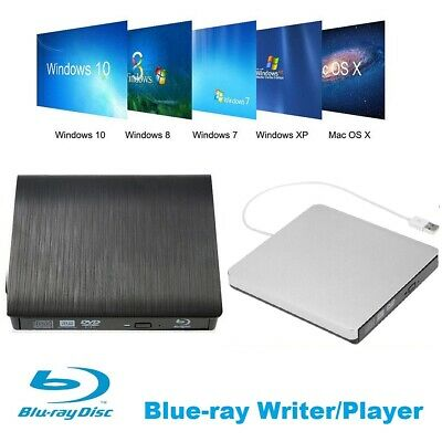 USB 3.0 Blu-Ray Disc Writer Reader Player RW External DVD CD BD Burner Driver AU