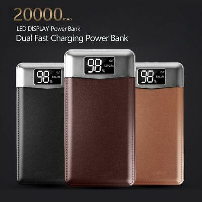 Power Bank Portable Ultra-thin Battery 20000mah With Dual LED Light Mobile Phone
