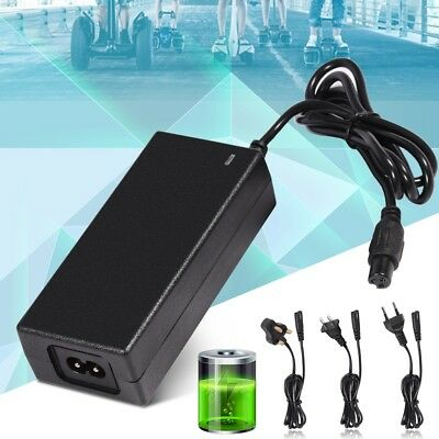 42V 2A Power Adapter Charger For 2 Wheel Self Balancing Scooter Hoverboard Black