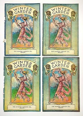 Vintage 1922 Lot of 4 Winter Garden Theatre Program Covers Djer-Kiss Ad Art Deco