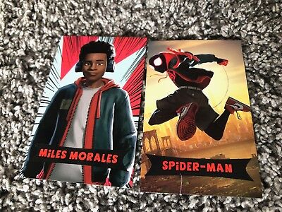 SPIDER-MAN INTO THE SPIDER-VERSE amc theaters trading 2 cards Miles Morales