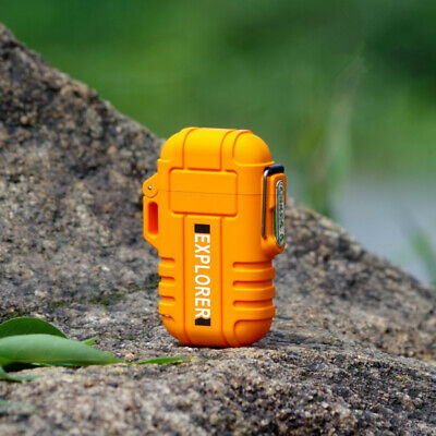 Waterproof USB Plasma Lighter Double Arc For Outdoor Camping Sports Electronic .