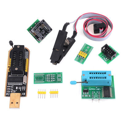 EEPROM BIOS usb programmer CH341A + SOIC8 clip + 1.8V adapter + SOIC8 adapter HK