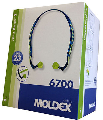 MOLDEX 6700 Jazz Band ®  Banded Earplugs - Ear Defenders - NEW Version - 1 Pair