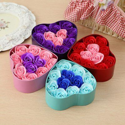 Heart Shaped Rose Love Box Artificial Dried Flowers Gift Box for Valentine's Day
