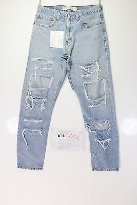Levis 505 Customized destroyed (cod. WB400) tg.46 W32 L30 jeans Remake Strappato