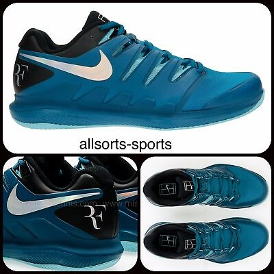 Nike Air Zoom Vapor X Clay 10 Rf Roger Federer Aa8021-300 Green Abyss