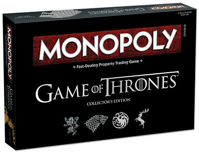 Monopoly - Game Of Thrones  Collector Editions Family Board Game