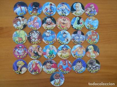 Lote 31 Tazos Street Fighter Ii - Coleccion Semi Completa - 31 De 36 Chicle (N1