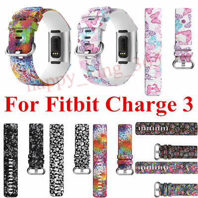 For Fitbit Charge 3 Band Adjustable Silicone Replacement Sport Strap Wristband