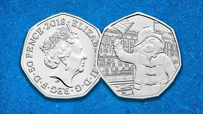Paddington BearPalace 50p Fifty Pence coin 2018 - Free Postage - Uncirculated