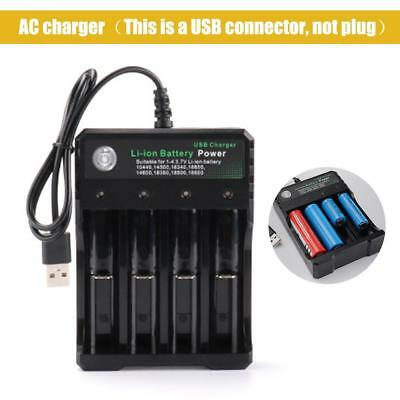 Universal 4-slot Li-ion Multiple Battery Charger For 18650 Rechargeable Battery
