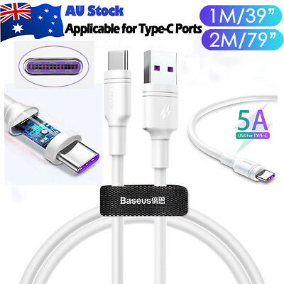 Genuine Type-C Lightning Fast USB Charger Charging Data Cable Cord AU New