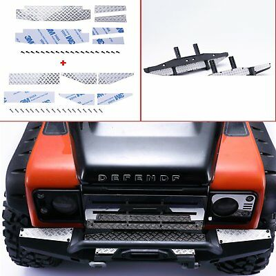 1/10 Front & Rear Bumper Anti Skid Plate Kit for Traxxas TRX-4 Land Rover RC Car